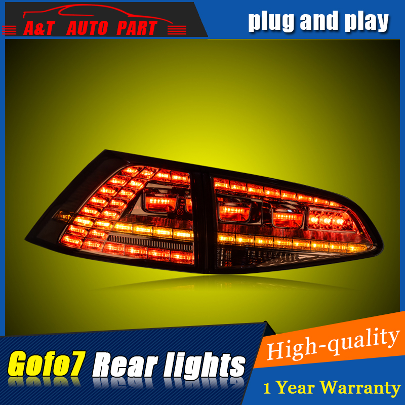Car Styling LED Tail Lamp For VW GOLF 7 Taillight assembly 2012-2016 For GOLF 7 Rear Light DRL+Turn Signal with hid kit 2pcs. цена