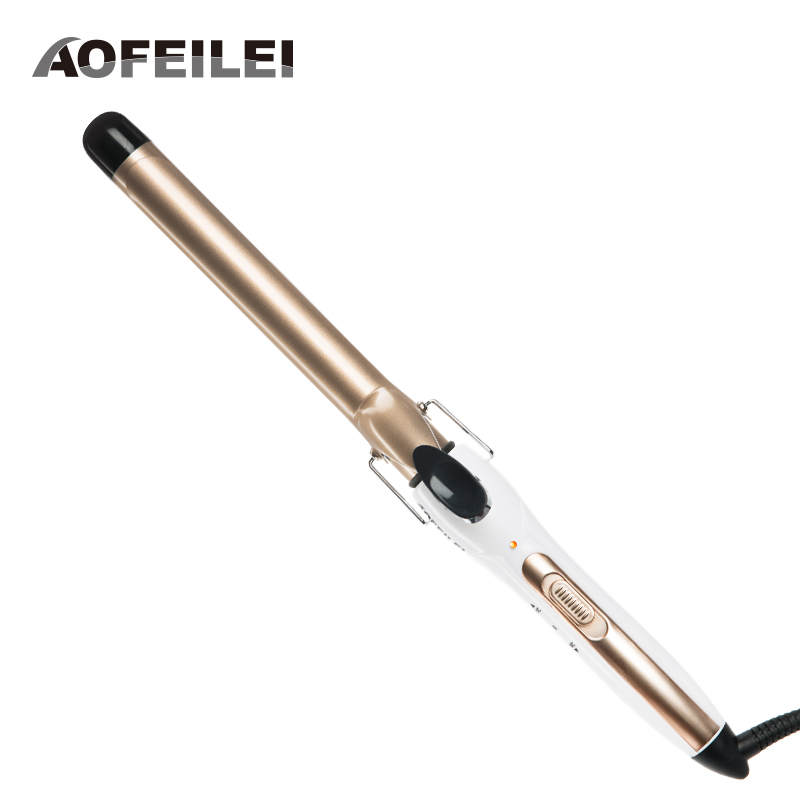 2017 New Electric Hair Brush Digital Temperature Control Styling Tools Hair Curling Iron Curler Styler Fit For Men Women Short ckeyin 9 31mm ceramic curling iron hair waver wave machine magic spiral hair curler roller curling wand hair styler styling tool