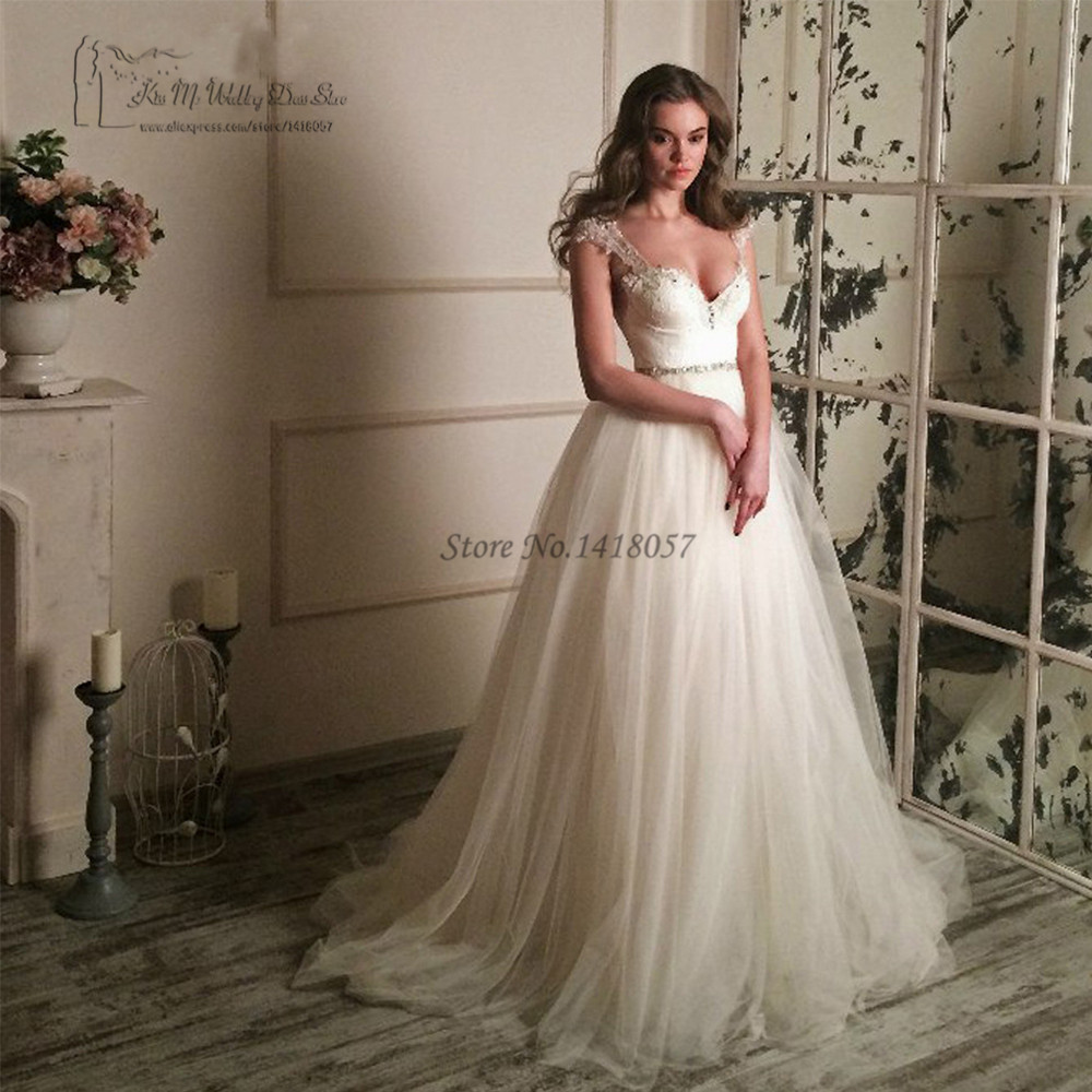 Sexy Greek Style Backless Wedding Dresses Lace Civil