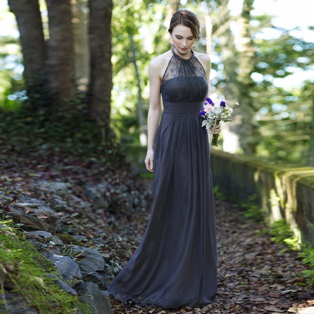Grey Gowns Wedding: Online Get Cheap Dark Grey Bridesmaid Dresses -Aliexpress