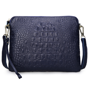 Image 2 - ipad Mini Bags New Arrival Bag Fashion Genuine Leather Handbags Women Aligator Clutch Bag Messenger Shoulder Bags  A216