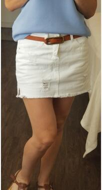 White Jeans Skirts 5