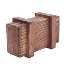Wooden Compartment Magic Trick Box Creative Brain Teaser Logic Educational Fun Magic Accessory Drawer Puzzle Secret Trick Box