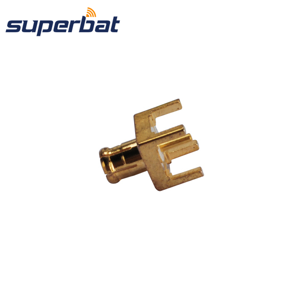 Superbat RF Coaxial  Connector MCX Thru Hole Male Plug PCB Mount With Solder Post 50 Ohm