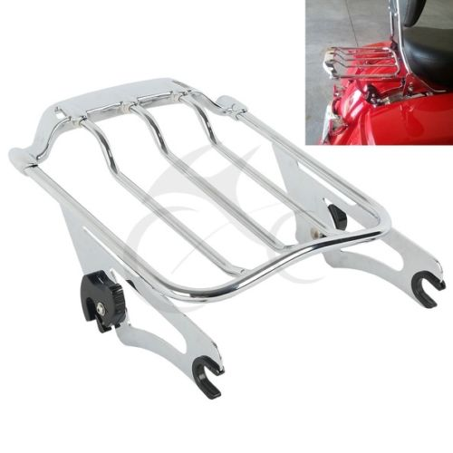Detachable Air Wing 2up Luggage Rack For Harley Davidson Touring Road King Street Glide FLTR FLHX partol black car roof rack cross bars roof luggage carrier cargo boxes bike rack 45kg 100lbs for honda pilot 2013 2014 2015