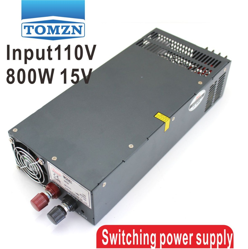 800W 0V TO 15V 54A 110V Single Output Switching power supply for LED Strip light AC to DC single output uninterruptible adjustable 24v 150w switching power supply unit 110v 240vac to dc smps for led strip light cnc