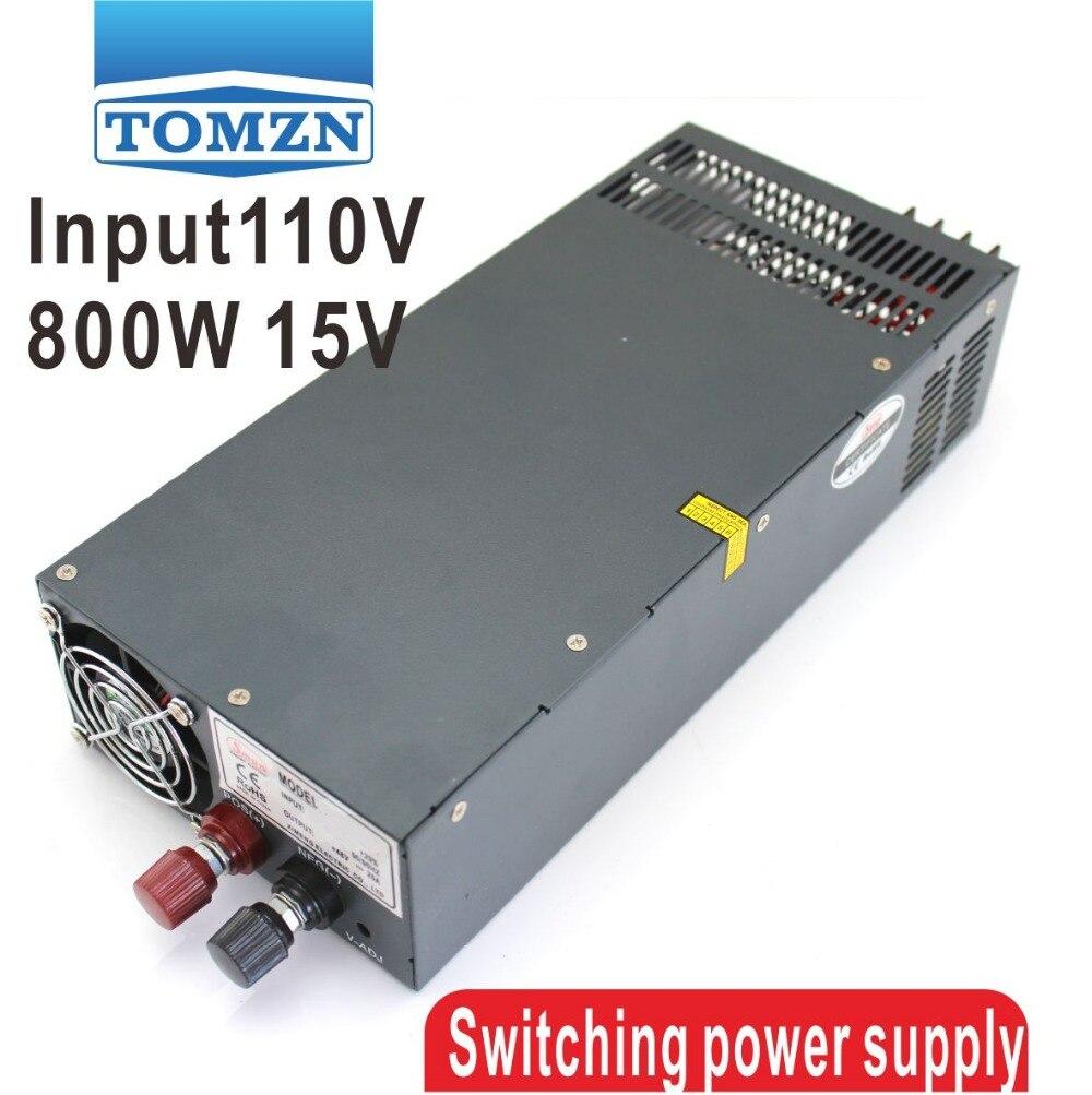 800W 0V TO 15V 54A 110V Single Output Switching power supply for LED Strip light AC to DC led driver 800w 15v 53a input ac 110v 220v to dc 15v single output switching power supply unit for led strip light s 800 15