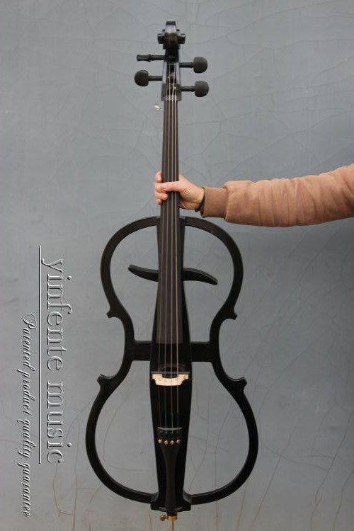Electric Cello 4/4 Solid wood Wonderful Sound Black Color Yinfente Brand 4 4 electric violin solid wood 9 28 black color 4string