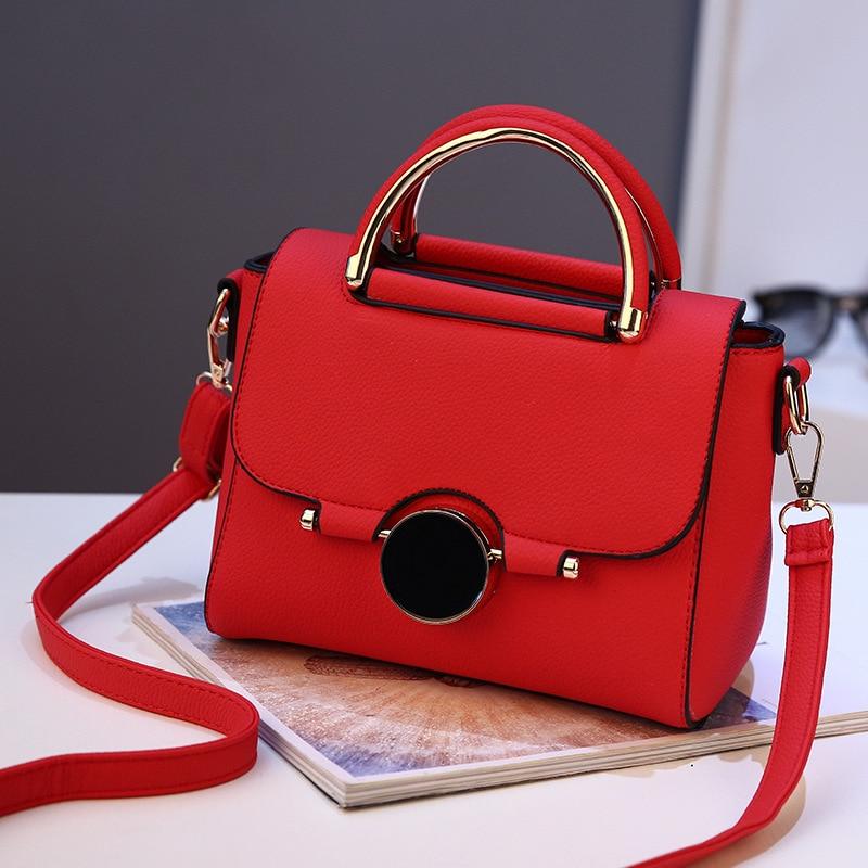 Women PU Leather Handbag Flap Bags Crossbody Shoulder Messenger Bag Female Top-Handle Women Fashion Small Bags Female Designer