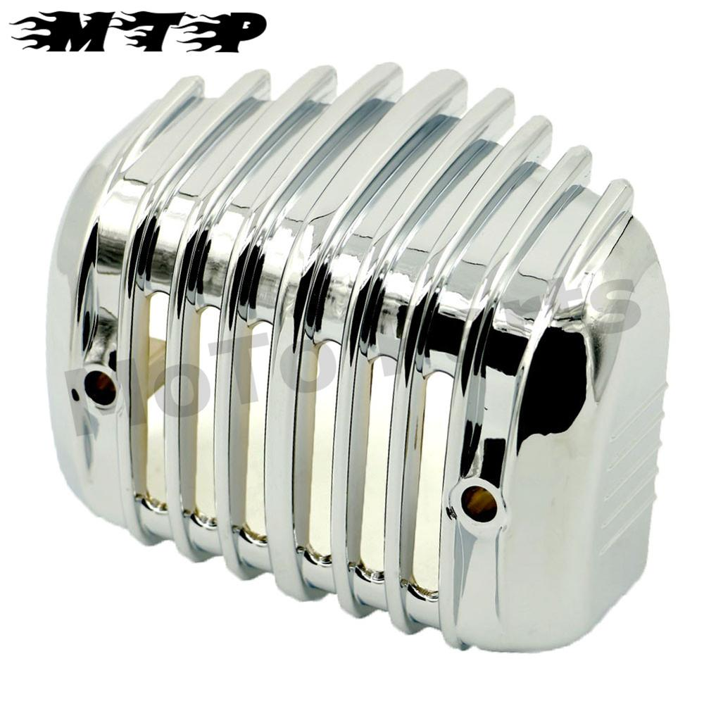 Chrome New Stock Voltage Regulator Cover Guard for Harley 2005-2016 Softail Deluxe - FLSTN 2010-2015 Softail Fat Boy Lo - FLSTFB motorcycle chrome fender tips trailing edge rear wheel tire shell cover for harley softail fat boy fatboy flstf flstfb mbt236