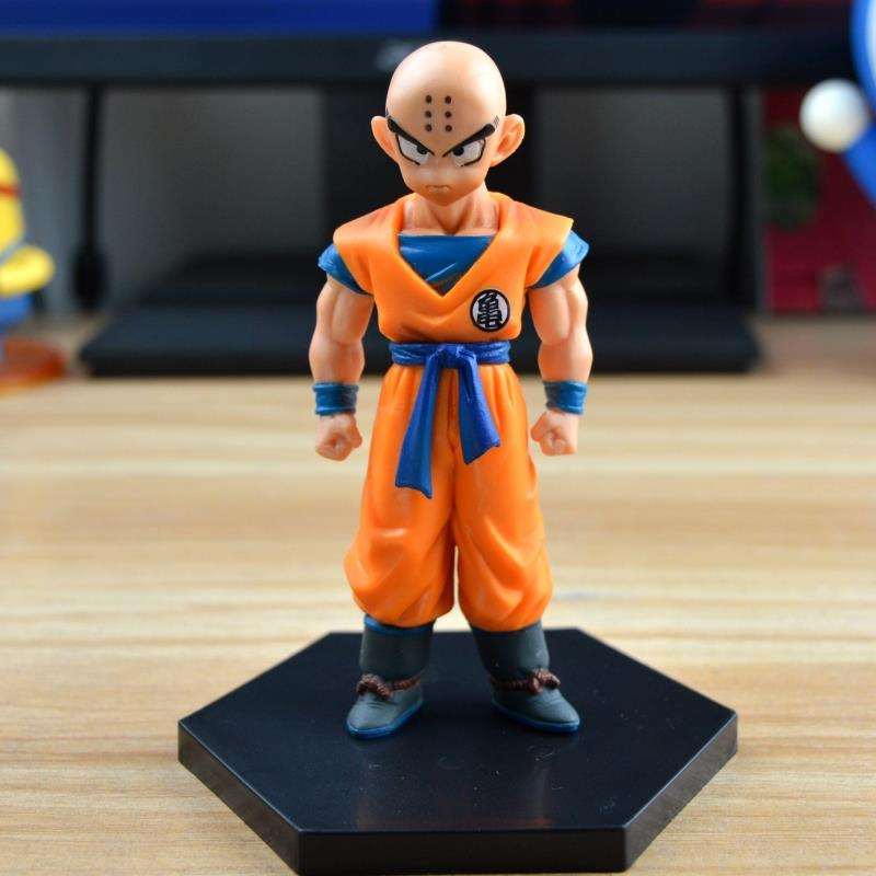 12cm 1Pcs Kuririn Figure Dragon Ball Z Super Krillin Kuririn PVC Action Figures Toy Collectible Model Dolls Toys free shipping super big size 12 super mario with star action figure display collection model toy