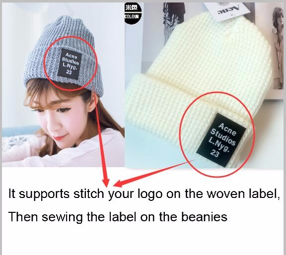 0dcf581bbb2 Free Blank Sample Beanie Adult Custom Candy color hats Winter Logo  Embroidery Beanies Casual Warm Beanie Hip hot Hats-in Skullies   Beanies  from Apparel ...