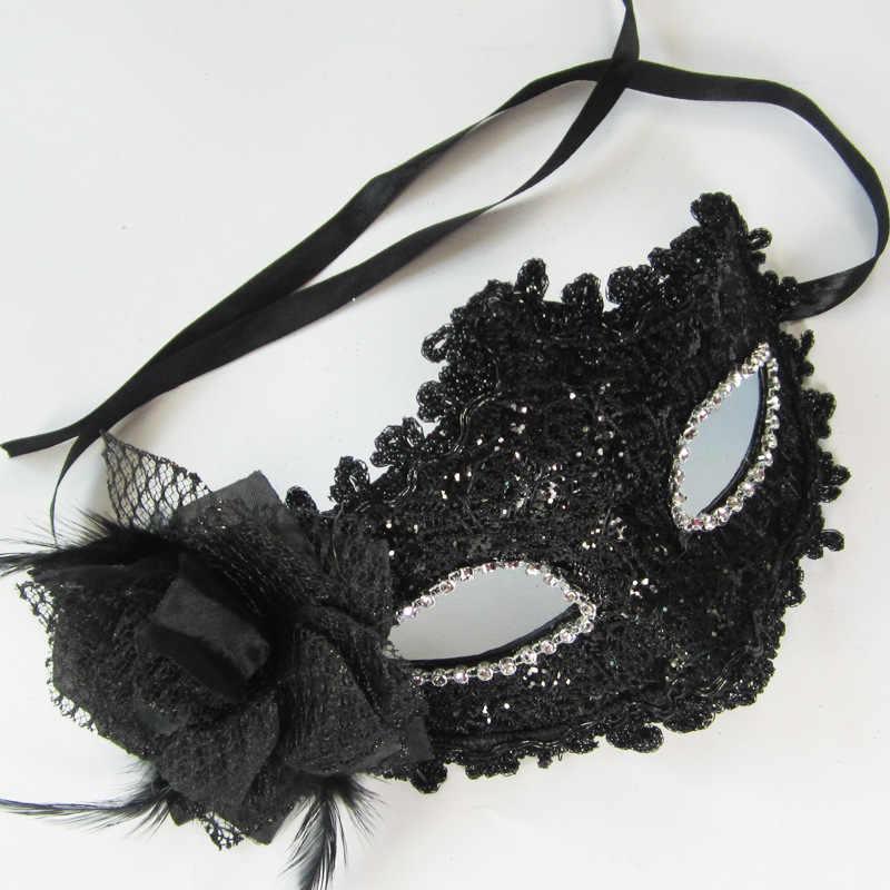 Komik oyuncak Yeni Kızlar Kadınlar Seksi Top Dantel Maske Masquerade Dans Parti Göz Maskesi Kedi Cadılar Bayramı Fantezi Oyuncak