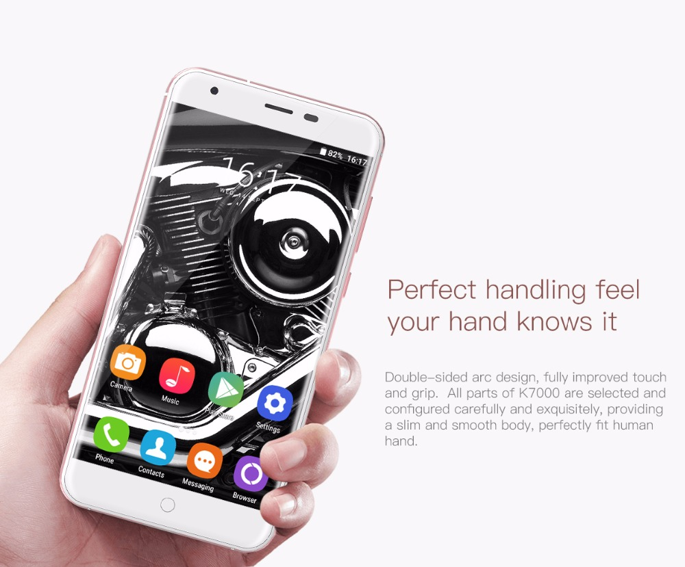 Oukitel K7000 MTK6737 Quad Core Android 6.0 Mobile Phone Cellphone 2G RAM 16G ROM3G Unlock Smartphone Original 5Inch Smartphone 3