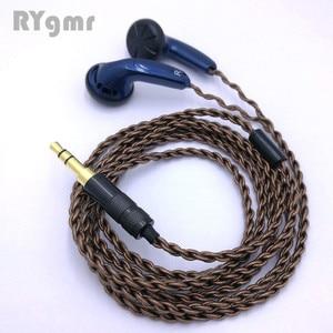 Image 4 - RY4S המקורי ב אוזן אוזניות 15mm מוסיקה באיכות צליל HIFI אוזניות (MX500 סגנון אוזניות) 3.5mm L כיפוף hifi כבל