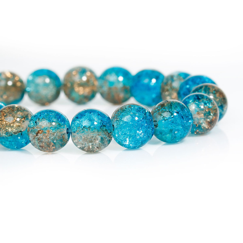 Mm Crackle Glass Beads