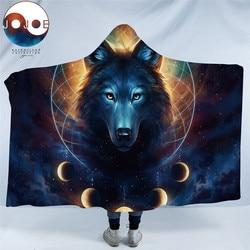 Dream Catcher by JoJoesArt Hooded Blanket Microfiber for Adults Kids Moon Eclipse Galaxy Wolf Sherpa Fleece Wearable Blanket