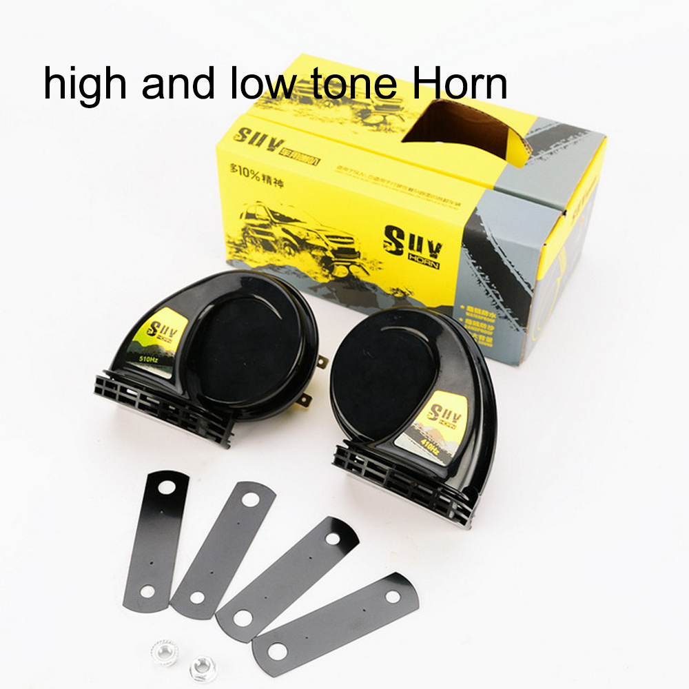 New SUV 2pcs /pair 1Treble 1 Bass Super Loud Snail Horn Nice price Speeker 12V Car Truck Vehicle 115DB Alarm Horn Waterproof