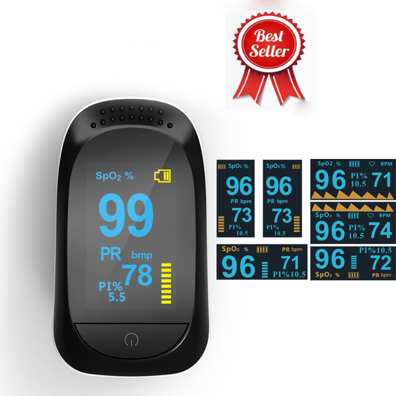 Finger Pulse Oximeter FDA Certificated Digital Fingertip Oximetry SPO2 Blood Oxygen Saturation Monitor With OLED Display