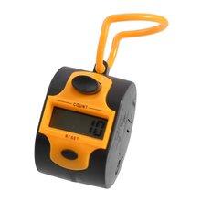 LIXF Горячая Оранжевый Черный пластик 5 номер гольф цифровой ручной счетчик