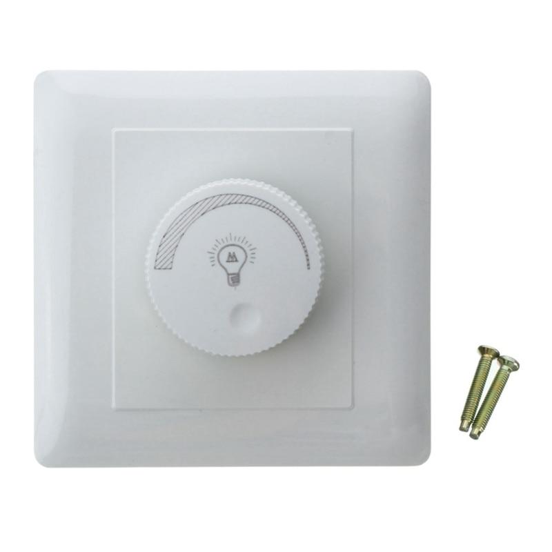 Adjustable Controller LED Dimmer Switch For Incandescent Lamp Light Downlight Brightness Controller AC220V 50Hz 200W bedroom silver tone knob adjustable light controller dimmer switch