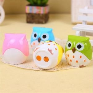 Image 5 - 24pcs/lot Cute Owl design Double orifice Mini pencil sharpener 4 colors pencil sharpener Wholesale
