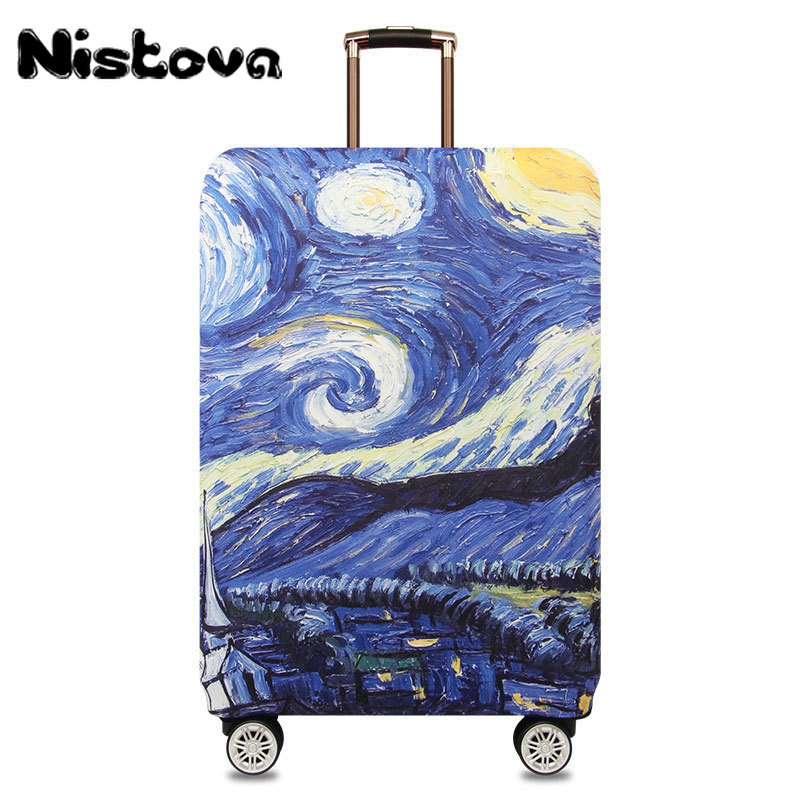 Thicker Fashion Travel On Road Luggage Suitcase Protective Cover Trolley Case Luggage Dust Cover Travel Accessories For 18-32in