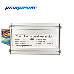 Image 4 - 24V/36V 250W 15A  Brushless DC Sine Wave ebike Electric Bicycle Hub Motor Controller with right output