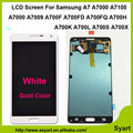 Gold White blue silver LCD Screen Display Touch Digitizer Assembly A7100 A7000 A7009 A700L A700S NEW For Samsung Galaxy A7