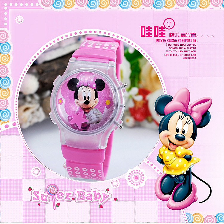 2015 new fashion boys girls silicone digital font b watch b font for kids mickey minnie