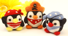 Penguin pirate regiment cartoon set wool needlepoint kit wool felt needle felting keychain craft needlecraft DIY handmade(China)