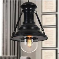New Vintage American country Pendant light. Loft Lamp Black/chrome/gold. Shell's Shape LOFT lights Droplight indoor home Deco