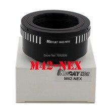 Kecay M42-NEX Lente Adaptador de montaje Para M42 Lente Y SONY NEX E Monte cuerpo NEX3NEX5 NEX7NEX-C3NEX-F3 NEX5N NEX-5R NEX6