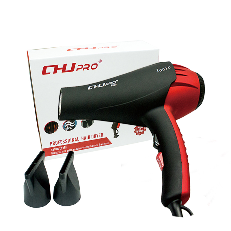 CHJ Hair Dryer Ionic Portable Blow Dryer Travel Household Electric Hair Blower Hair Style Tool High Power With Collecting Nozzle free shipping domestic woodworking high power electric tool portable electric planer