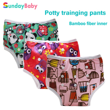 Resuable baby cloth nappies and potty training pants bamboo fiber inner super absorbent and breathable baby diaper pants