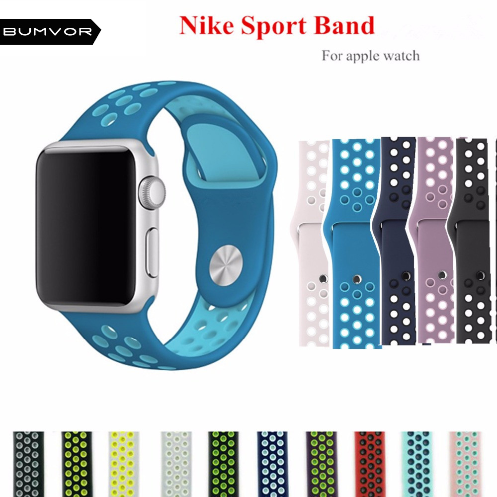 BUMVOR Sport silicone strap for apple watch band 42 mm 38mm bracelet  rubber silicone watchband Adapter for iwatch  serise 1 2 crested stainless steel watch band strap for apple watch 42 mm 38 mm link bracelet replacement watchband for iwatch serise 1 2