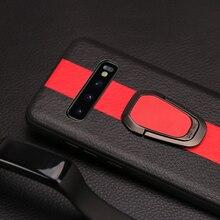 Для samsung S7 S8 S9 плюс Чехол для телефона из искусственной кожи с вышивкой и круглыми пряжками чехол для Note 8 9 A5 A7 A8 J5 J7 2018 задняя крышка