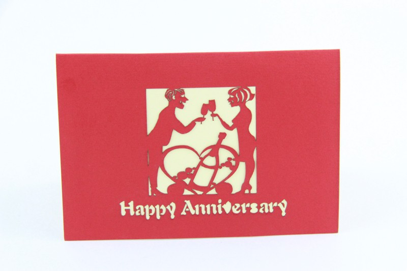 Us 7 64 15 Off Happy Anniversary Card 3d Card Pop Up Card Anniversary Invitation Customize Free Shipping In Cards Invitations From Home Garden