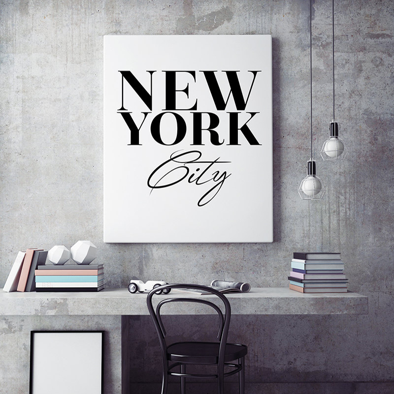 ộ_ộ ༽New York City Wall Art, Scandinavian print, Black and White ...