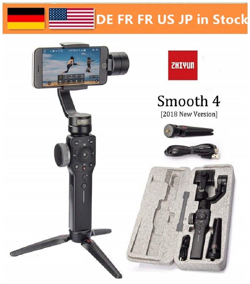 Zhiyun гладкой 4 3 оси ручной Gimbal стабилизатор w/фокусировки Pull & зум для iPhone Xs Max Xr X 8 плюс 7 6 SE samsung действие Камера