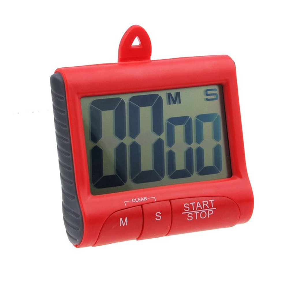Kitchen Tool Stand Electronic Timer Reminder Desktop With Clip Counter Hanging Digital Display Magnetic LCD Screen Easy Operate(China)