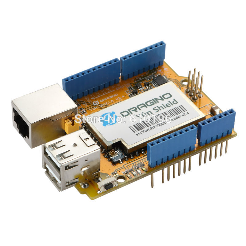 Newest! Yun Shield v2.4 All-in-one Shield for Arduino UNO LeonardoMega2560 Linux WiFi Ethernet ESP8266 IOT