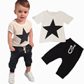 2017 summer style baby boy clothes fashion cotton baby girl clothing set casual short sleeved printed t-shirt+pants 2pcs sets