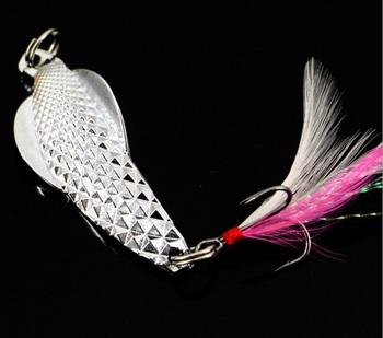5cm 12g stałe metalowe ptaki do łowienia na przynęty szybko tonący do każdego poziomu wody nadaje się do głębokiego wody razem 50 sztuk tanie i dobre opinie Albacore Jezioro Zbiornik staw Rzeka Stream LURE Sztuczne przynęty