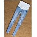 2016 novo tamanho grande moda jeans maternidade Casual mulheres Grávidas importo calças barriga cintura Elástica Fino jeans gravidez vestir