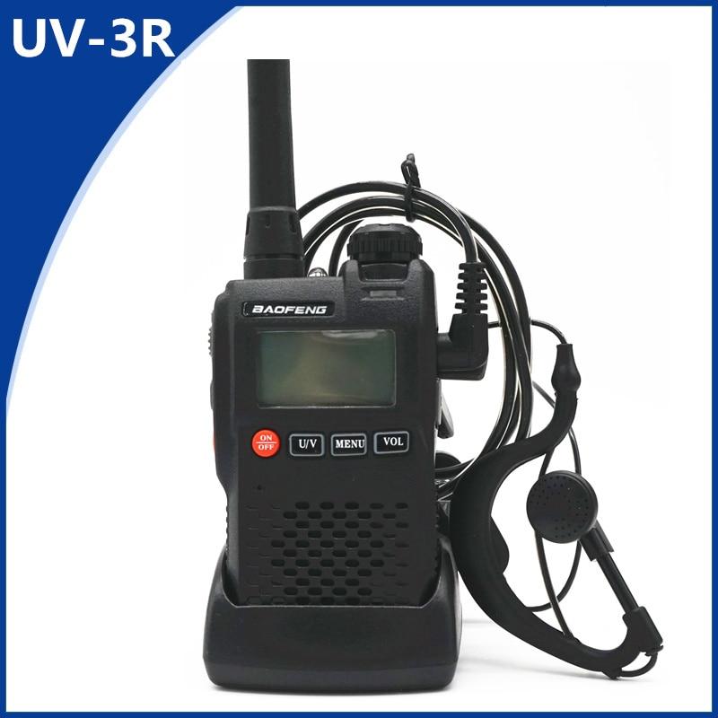 Baofeng Walkie Talkie UV-3R 136-174/ 400-470MHz Portable CB Radio UV 3R Plus Mini Dual Band LCD Ham Radio FM Transceiver