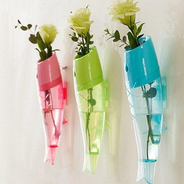 Online Shop Wall Hanging Crystal Plastic Planter Flower Vase