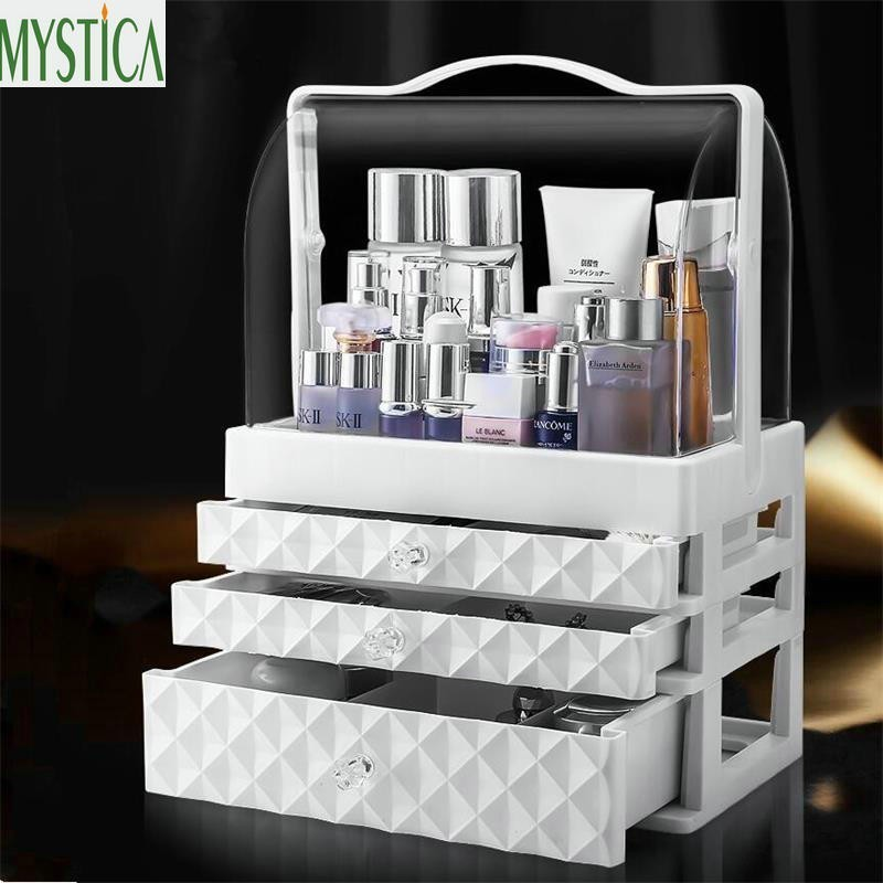 Home <font><b>Acrylic</b></font> <font><b>Drawer</b></font> Makeup Storage Box Brush Lipstick Holder Jewelry <font><b>Organizer</b></font> Boxes Desktop Skin Care Cosmetic <font><b>Organizer</b></font> Rack image