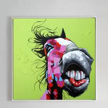 100% Hand Painted Abstract Funny Donkey Art Painting On Canvas Wall Art Wall Adornment Picture Painting For Live Room Home Decor buudai the bandwidth of 20 m 50 m sampling rate virtual oscilloscope usb oscilloscope dual channel logic analyzer