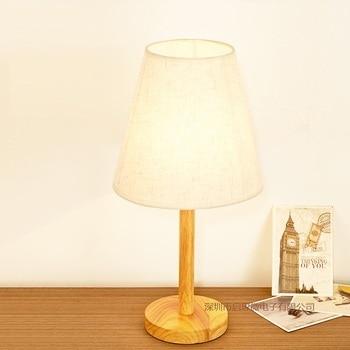 Newest Modern Fashion Decoration E27 110V/220V European Simple wooden Table Lamps For Bedroom/Living Room Lighting